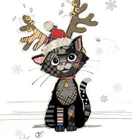 """Kooks Cards Christmas-Kitten Antlers (5""""X7"""") Blank Inside"""