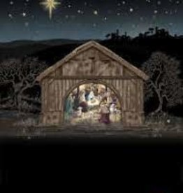 "Kooks Cards Christmas Jewels-Nativity (5""X7"") Blank Inside"