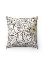 Map Pillow w/ insert