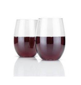 Stemless Plastic Beach Wine Cups