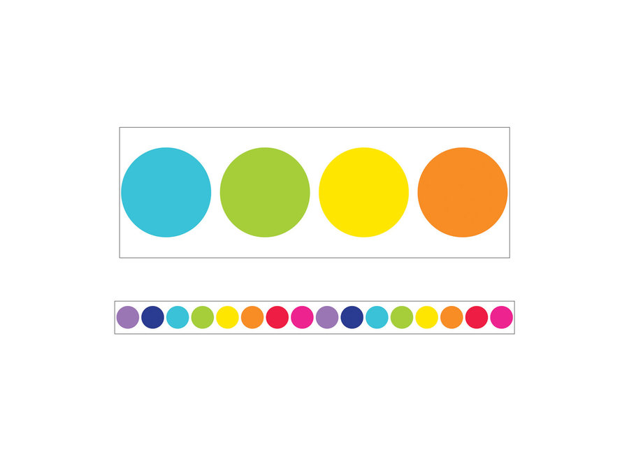 Rainbow Big Dots Straight Borders