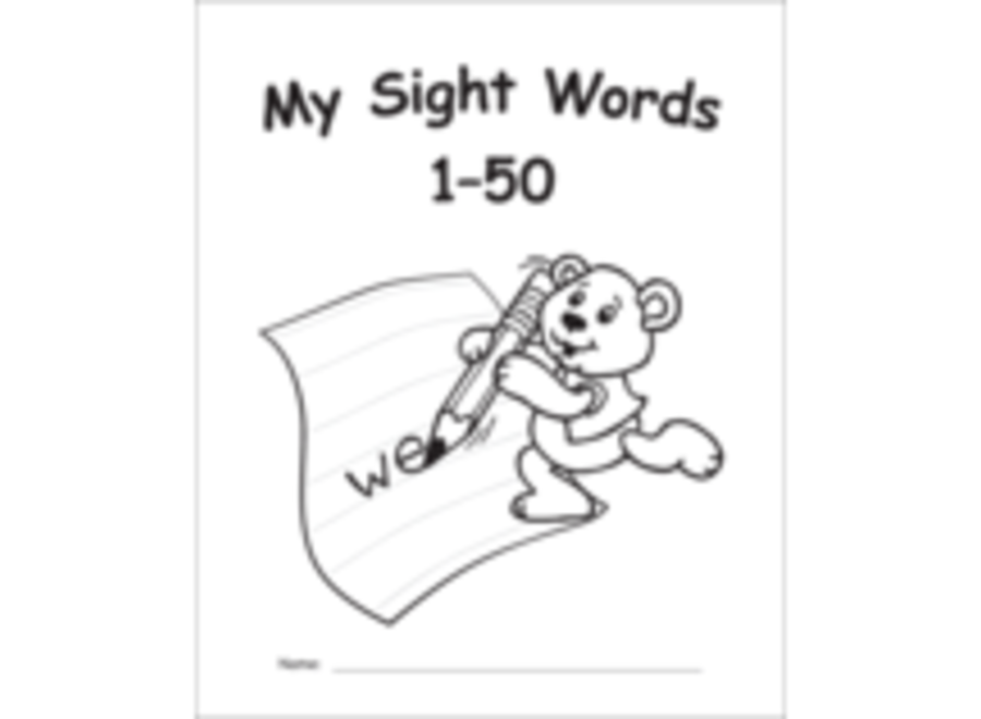 My Own Books: Sight Words 1-50