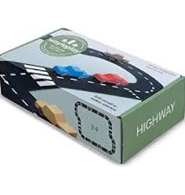 Waytoplay Toys Highway Road Set, 24 pc.