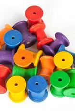 Grapat Rainbow Stacking Spools, 18  pc.