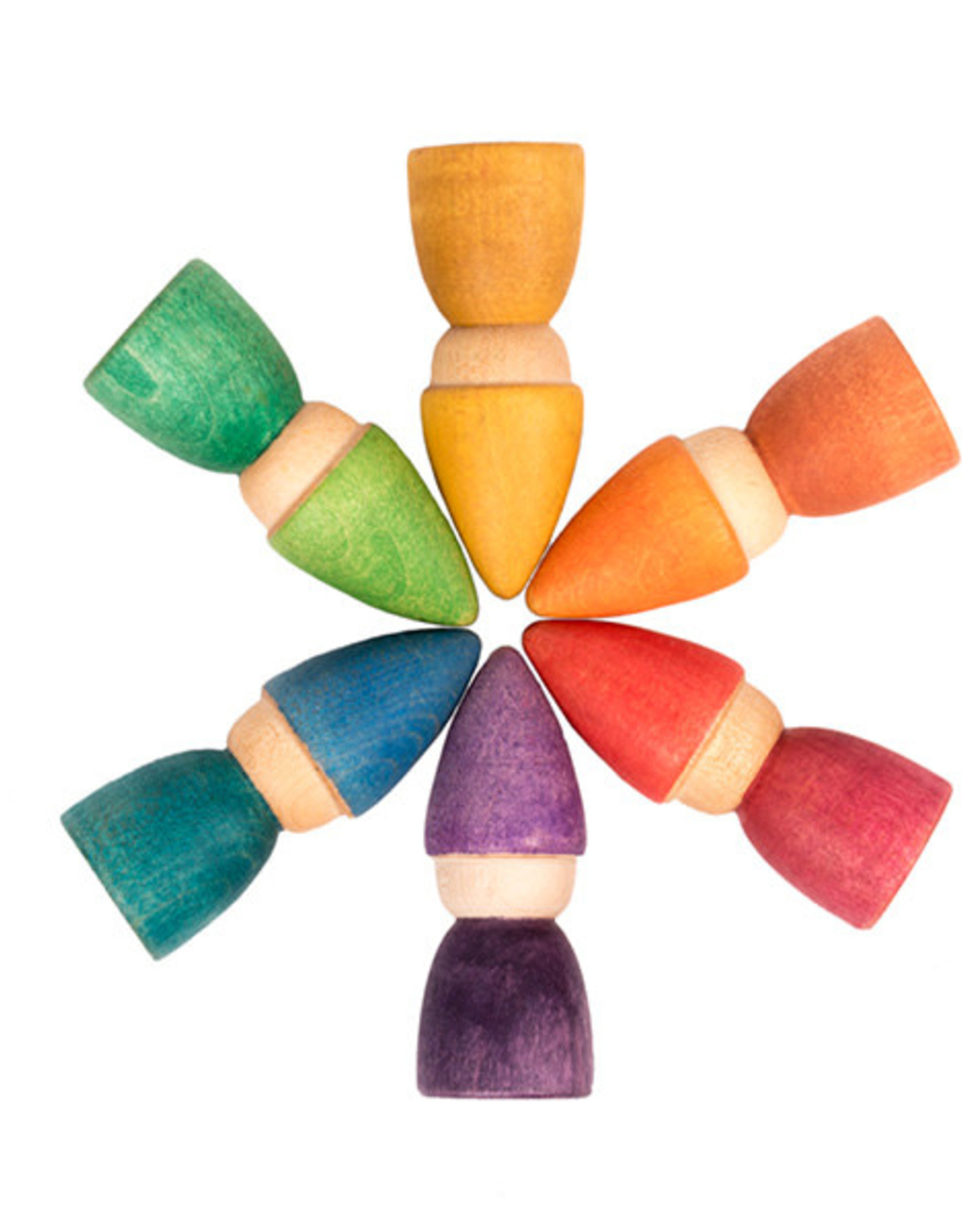 Grapat Rainbow Tomtens, Set of 6