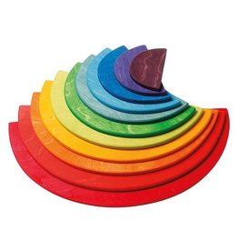Grimm's Rainbow Semi Circles Building Set