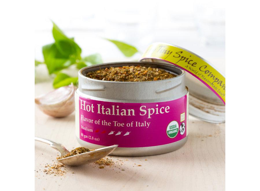Organic Hot Italian Spice 2.8 oz.