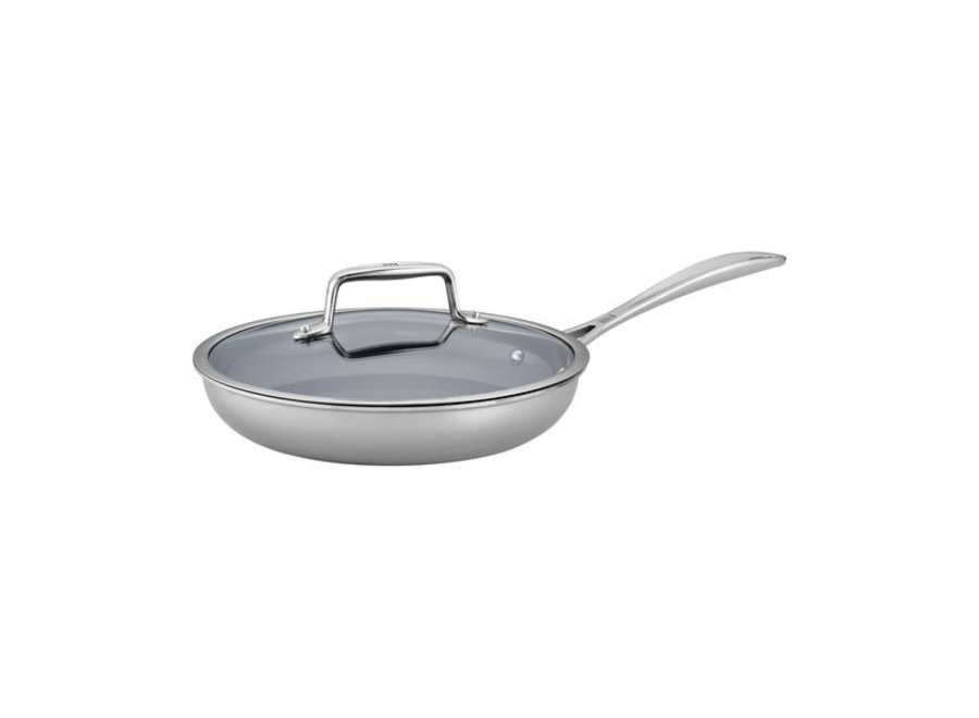 "9.5"" Clad CFX Non-Stick Fry Pan with Lid Set"