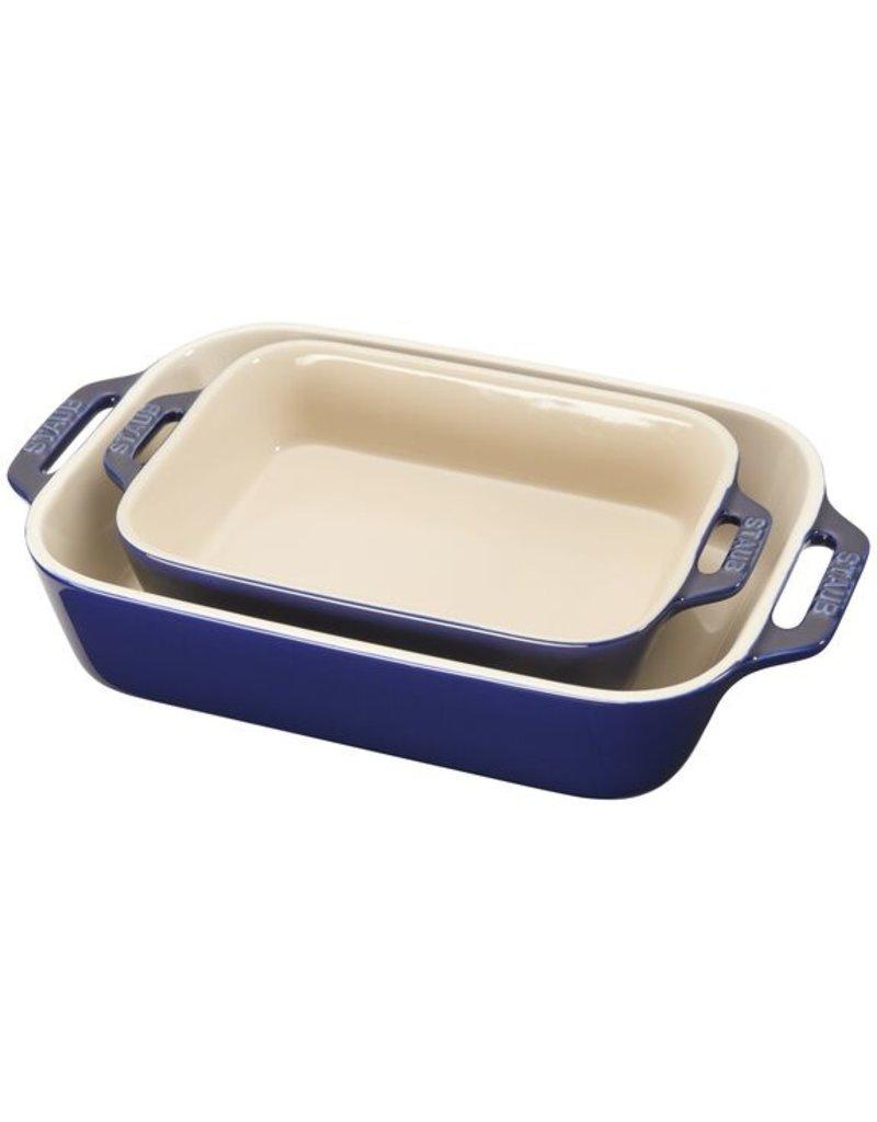 Staub 2 piece Rectangular Baking Dish Set