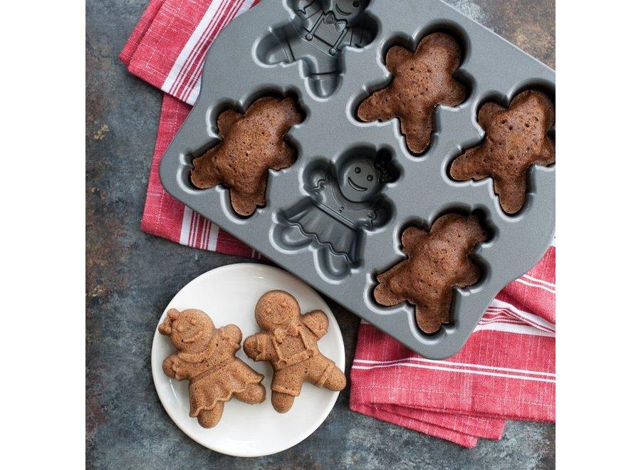 Gingerbread Kids Cakelet Pan
