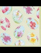 Caspari, Inc. Cocktail Napkin Floral Decorated Eggs