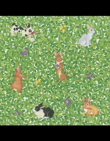 Caspari, Inc. Caspari, Inc. Luncheon Napkin Bunnies And Boxwood