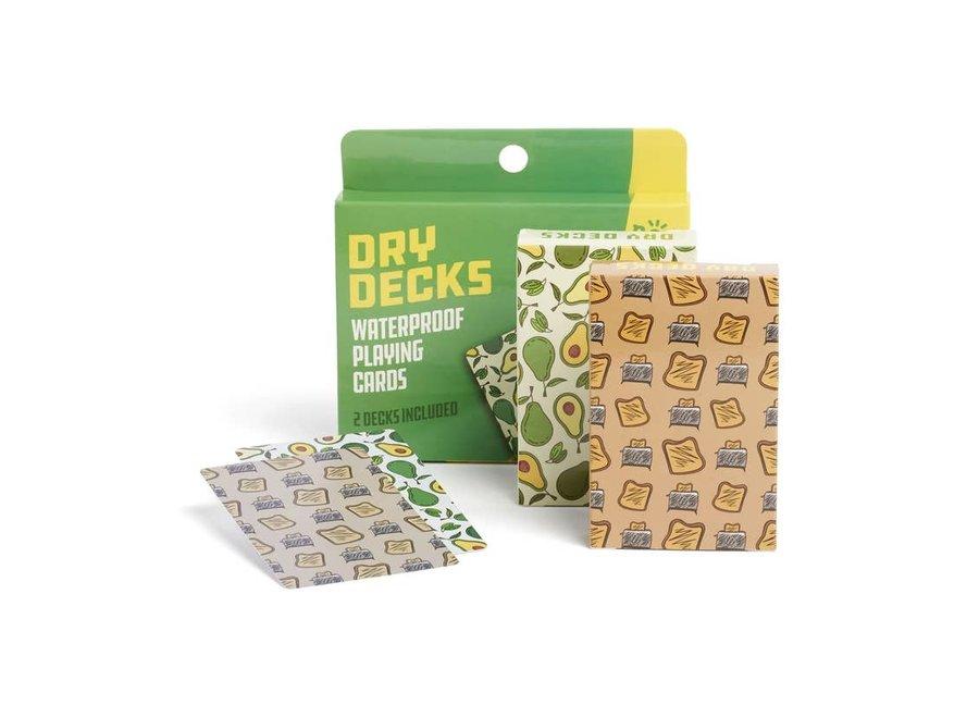 Dry Deck-2 Avocado Toast Decks of Waterproof Playing Card