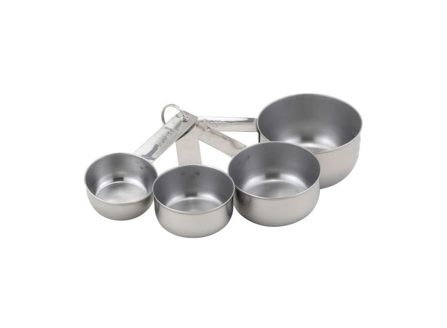 Measuring Cups Set, Engraved Measurements for Liquid Dry and Ingredients, Stainless Steel, 4-Piece