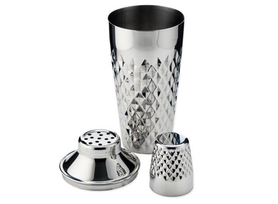 Admiral Stainless Steel Faceted Cocktail Shaker