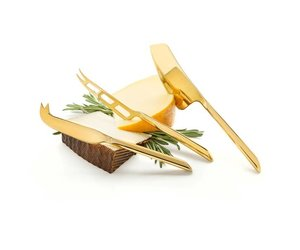 Belmont Gold Plated Knife Set Kitchenwares