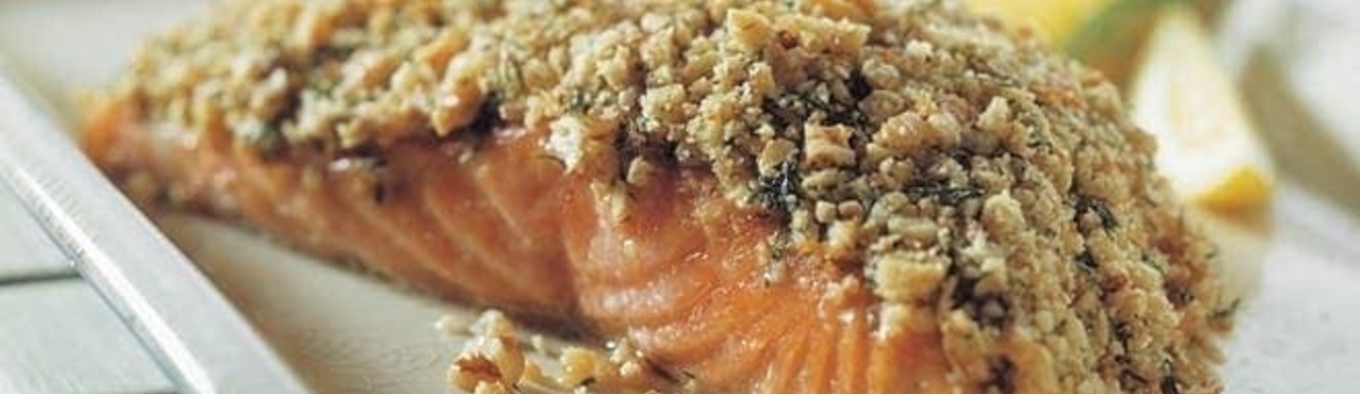 Simple Walnut Crusted Salmon