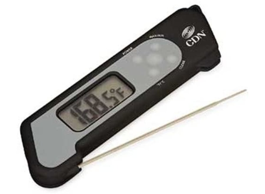 Instant Read Folding Thermometer Black