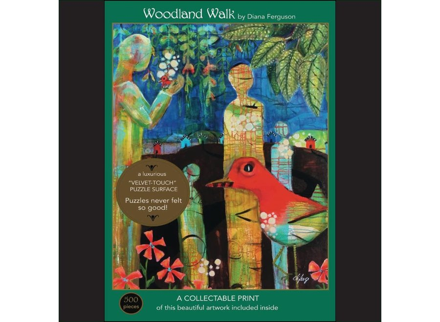Woodland Walk; 500-Piece Velvet-Touch, Jigsaw Puzzle
