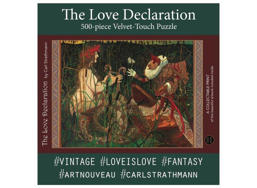 The Love Declaration; 500-Piece Velvet Touch Jigsaw Puzzle