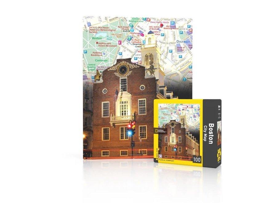 Boston City Mini Map Puzzle 100pc