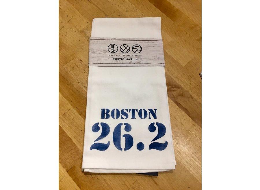 Boston Marathon 26.2 Tea Towel
