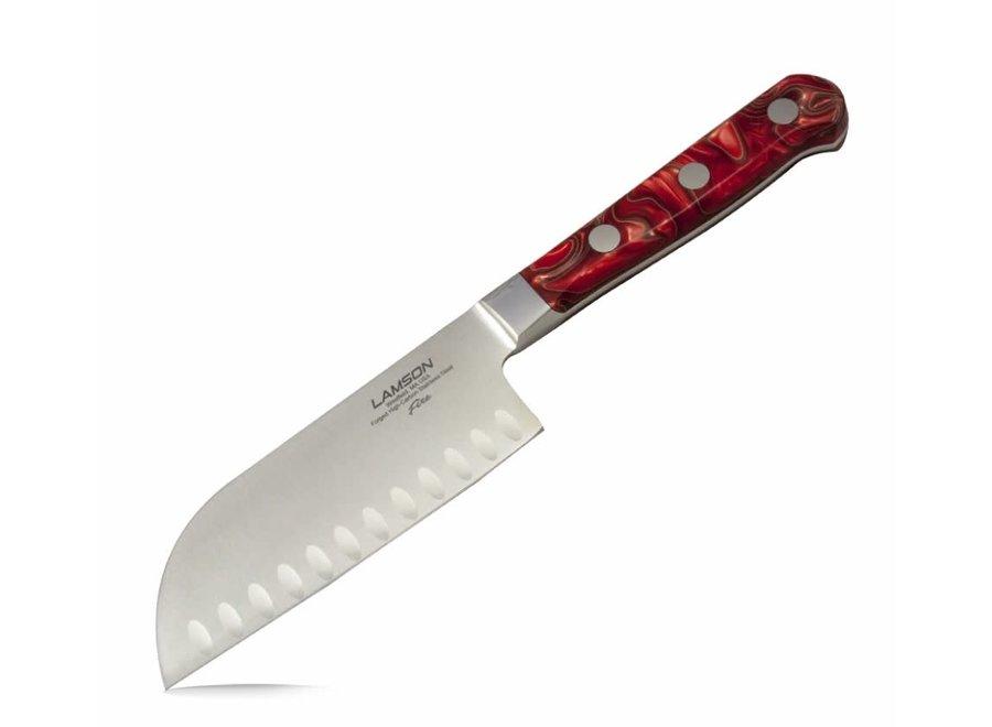 "5"" Premier Forged Granton Edge Santoku Knife Fire Series"