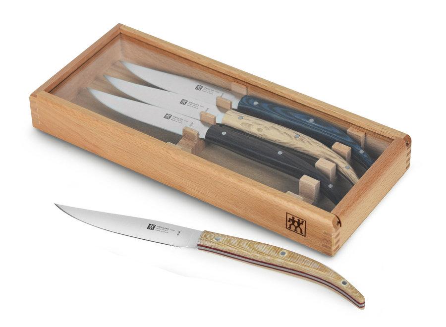 Toro Steak Knife 4 pc Set in Beechwood Presentation Box