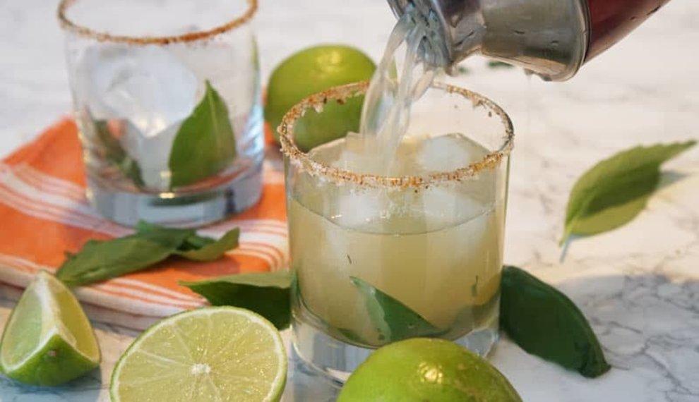 Smoky Basil Oaxacan Mezcal Cocktail