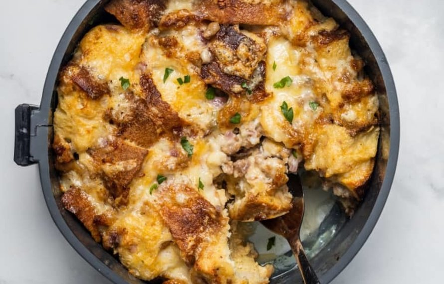 Sausage, Egg, and Cheese Strata (Pressure Cooker)