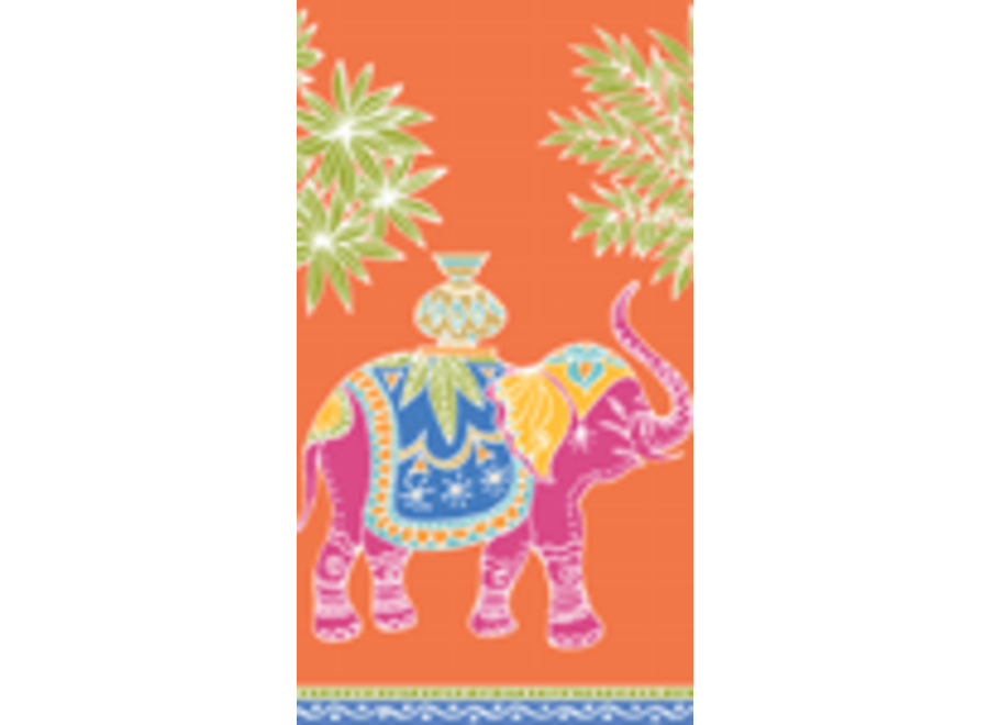 Royal Elephant Paper Guest Towel Napkins in Orange - 15 Per Package