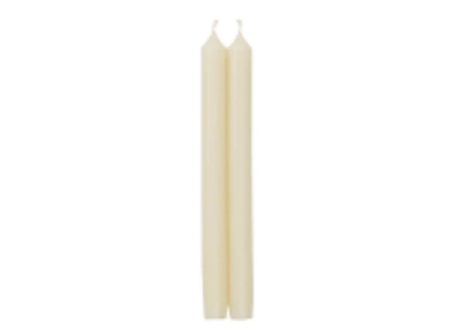 "Straight Taper 10"" Candles in Ivory - 2 Candles Per Package"