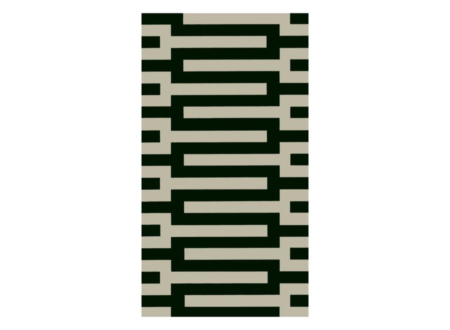 Zipper Paper Guest Towel Napkins in Black - 15 Per Package