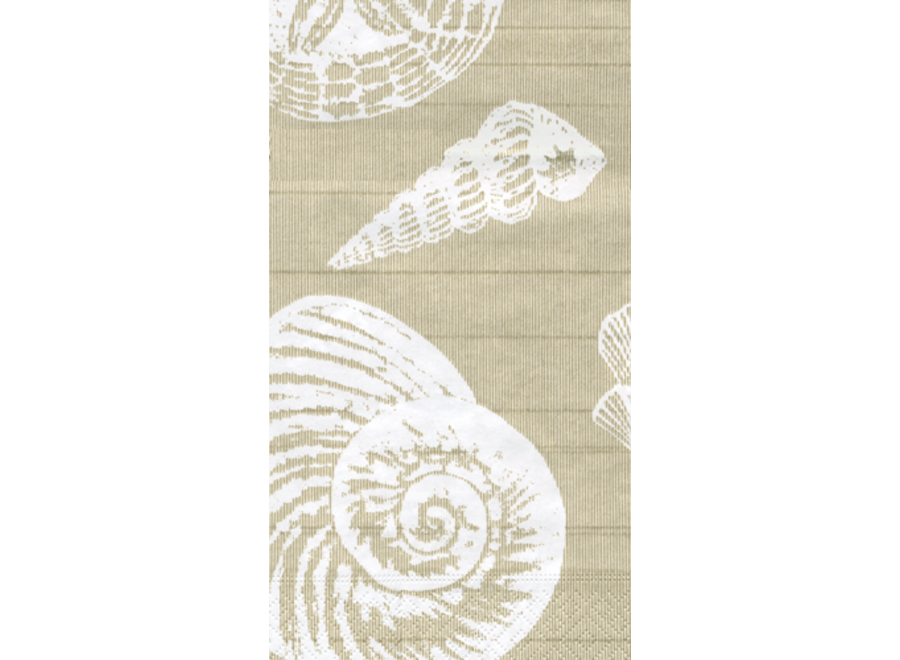 Shells Paper Guest Towel Napkins in Sand - 15 Per Package