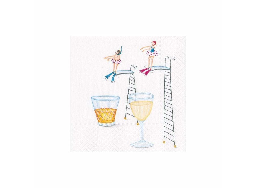 Dive In Paper Cocktail Napkins - 20 Per Package