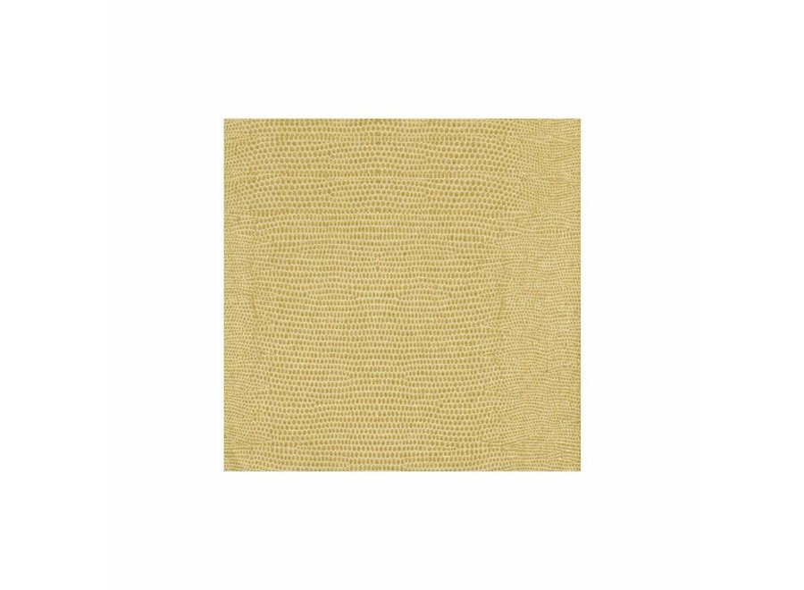 Lizard Paper Linen Cocktail Napkins in Gold - 15 Per Package