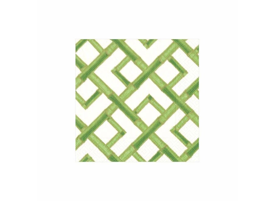 Bamboo Paper Cocktail Napkins in Green - 20 Per Package