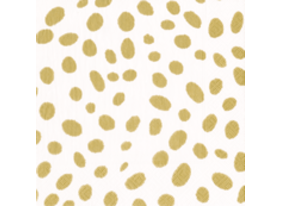 Spots Paper Cocktail Napkins in Gold - 20 Per Package