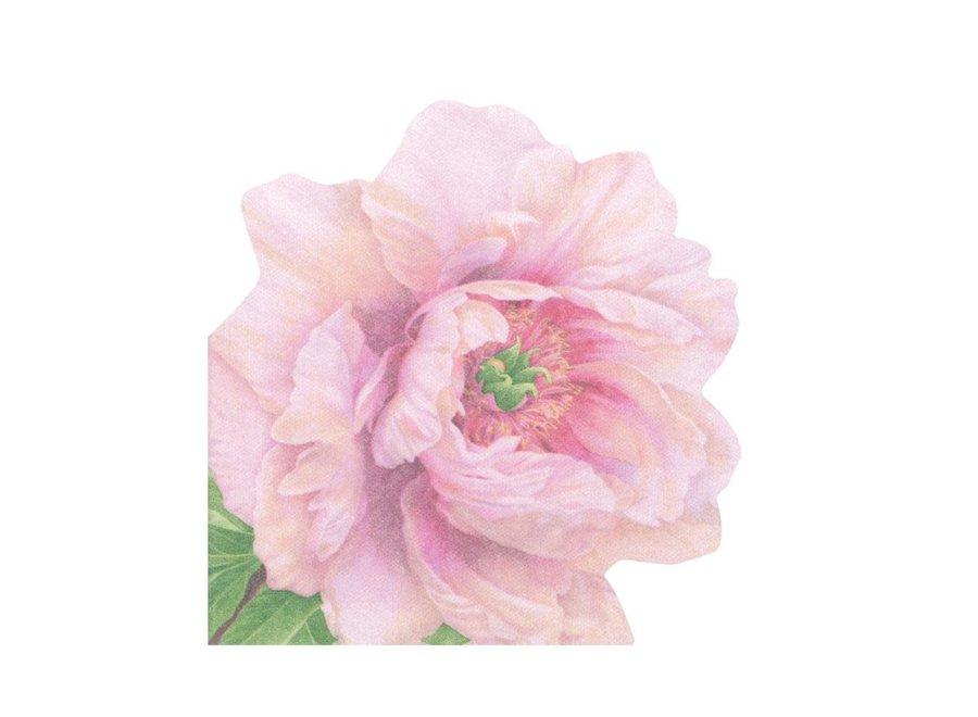 Blush Die-Cut Paper Linen Party Napkins - 15 Per Package