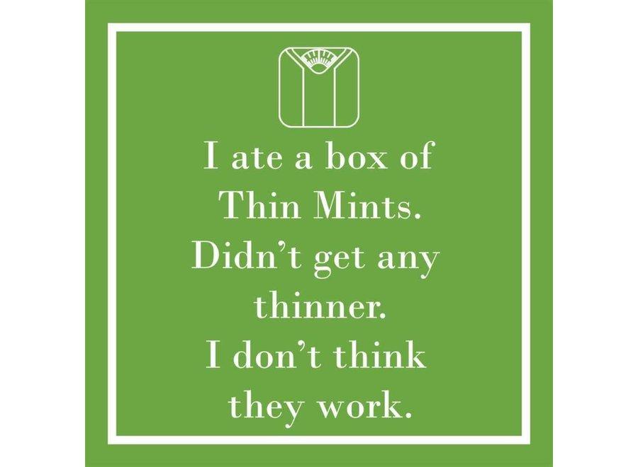 Thin Mints Beverage Napkins