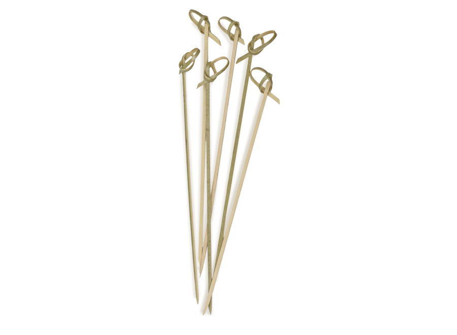 """Bamboo Appetizer Knot Picks – 6½"""" (50 COUNT)"""