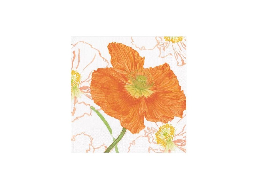 Poppy Field Paper Cocktail Napkins - 20 Per Package