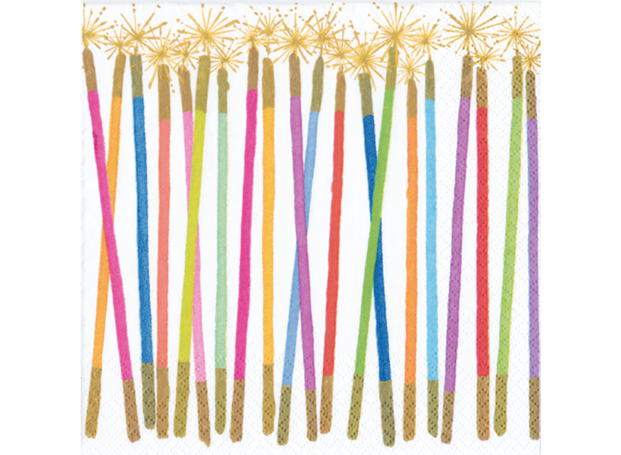 Party Candles Paper Cocktail Napkins - 20 Per Package