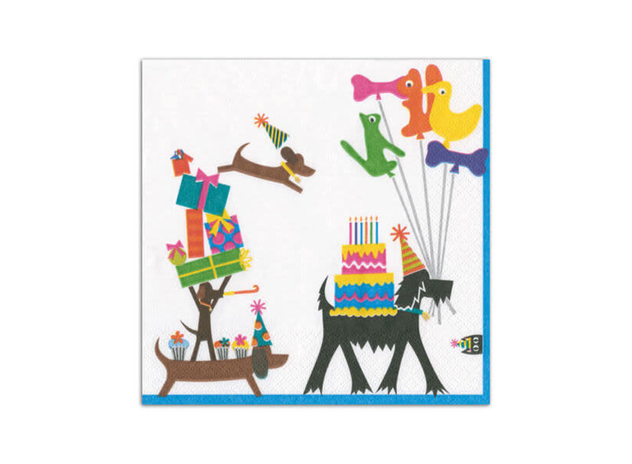 Party Pups Paper Cocktail Napkins - 20 Per Package