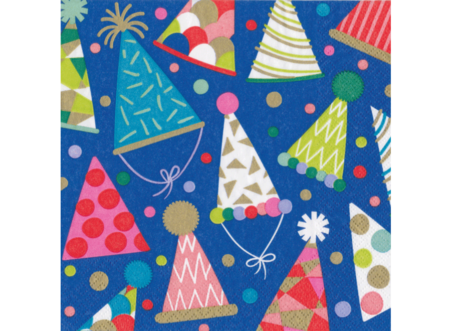 Party Hats Paper Luncheon Napkins - 20 Per Package