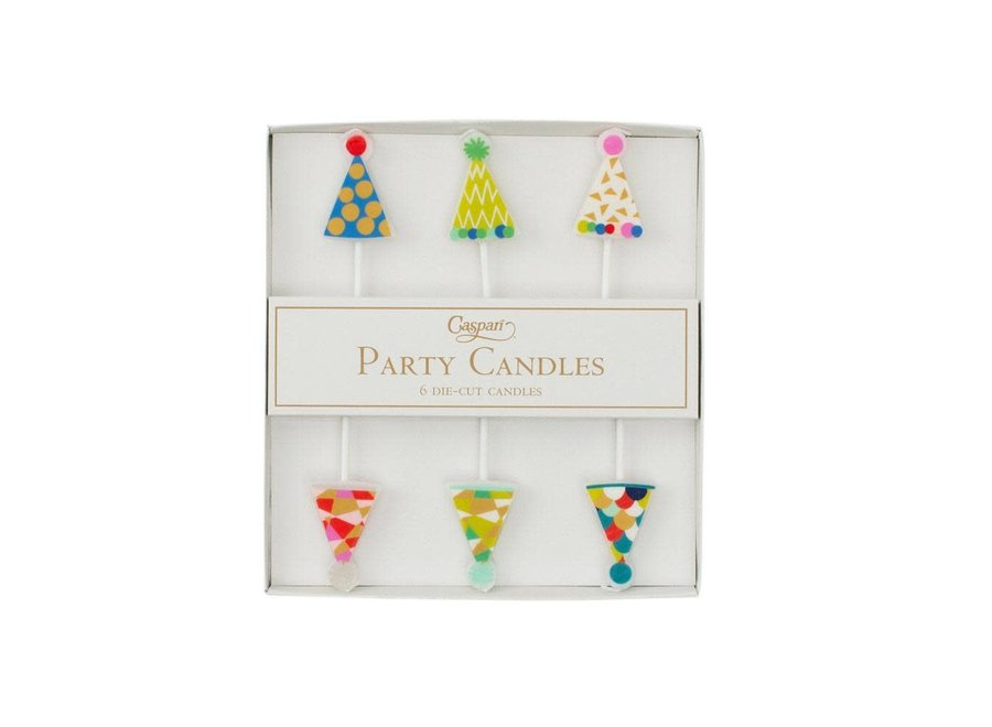 Party Hats Die-Cut Party & Birthday Candles - 6 Per Package