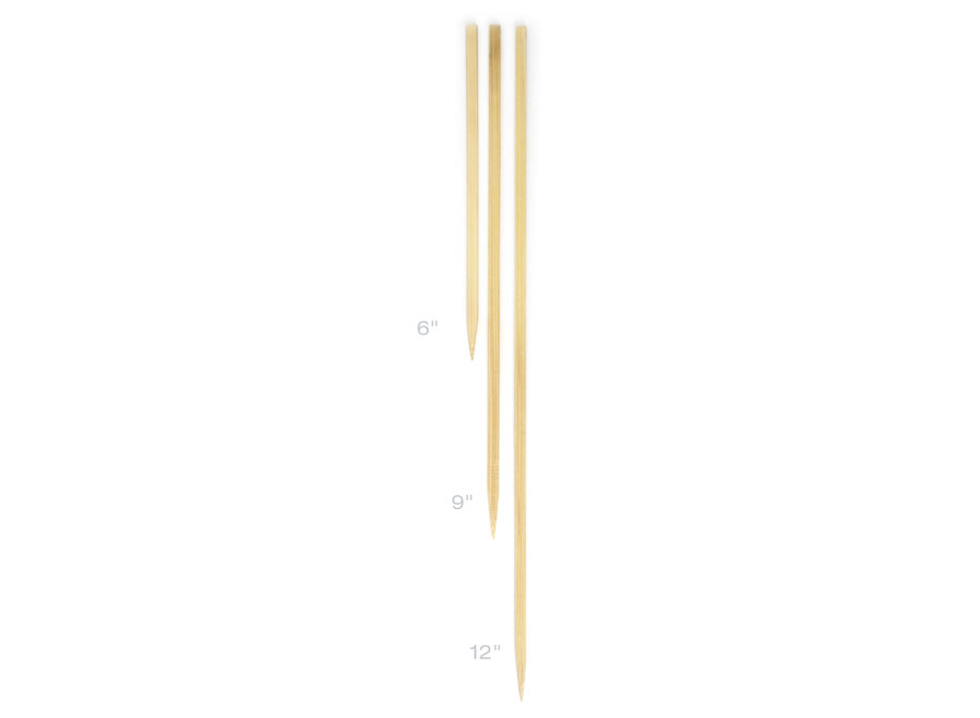 "Flat Bamboo Skewers 6"" 50 count pack"