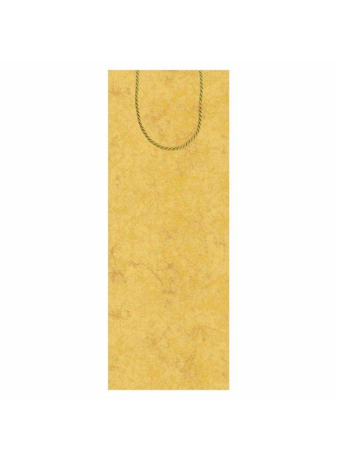 Antique Gold Wine & Bottle Gift Bag - 1 Each