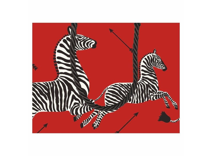 Zebras Small Gift Bag in Red - 1 Each