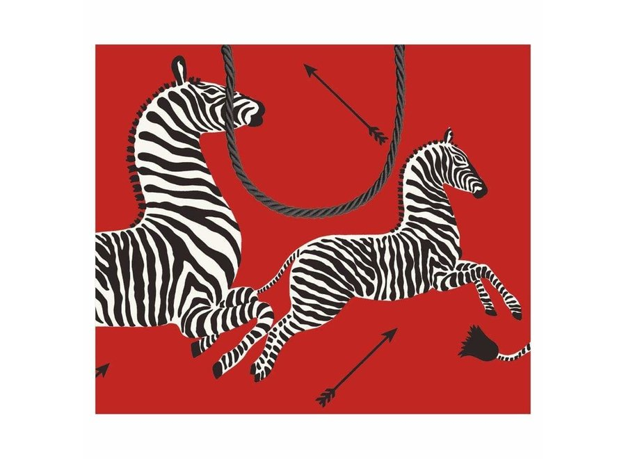 Zebras Large Gift Bag in Red - 1 Each